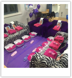sweet 16 pamper parties and sweet 16 themed parties for girls in London.