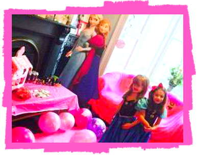 frozen little girl princess birthday party